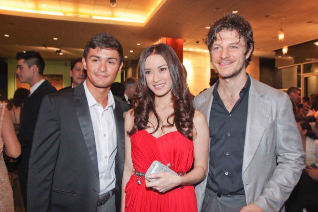 from left: Matteo Guidicelli, Maricar Reyes and Andrea Bosca. The Moviemov: Italian Film Fest rolled out the red carpet at the Ayala Museum and GB3 cinema. Photo by Jude Bautista.