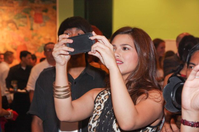 There were so many stars Denise Laurel also took pics of her own from her i-phone. The Moviemov: Italian Film Fest rolled out the red carpet at the Ayala Museum and GB3 cinema. Photo by Jude Bautista.