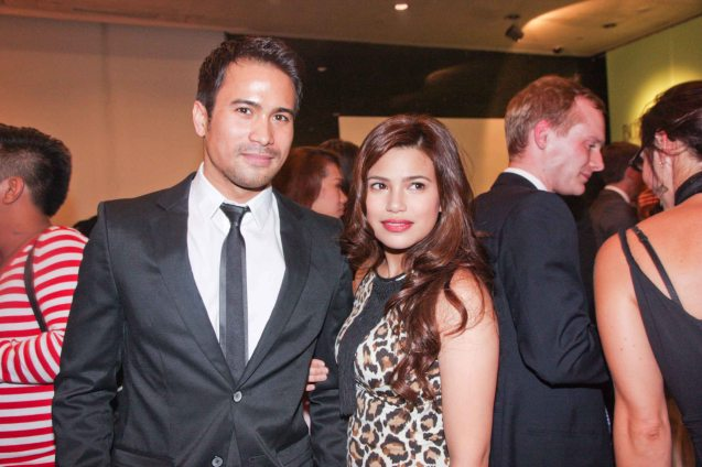 Sam Milby and Denise Laurel. The Moviemov: Italian Film Fest rolled out the red carpet at the Ayala Museum and GB3 cinema. Photo by Jude Bautista.