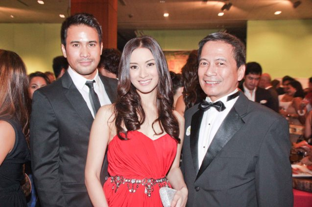 from right: Cinemalaya Foundation Pres. Nes Jardin, Maricar Reyes and Sam Milby. The Moviemov: Italian Film Fest rolled out the red carpet at the Ayala Museum and GB3 cinema. Photo by Jude Bautista.