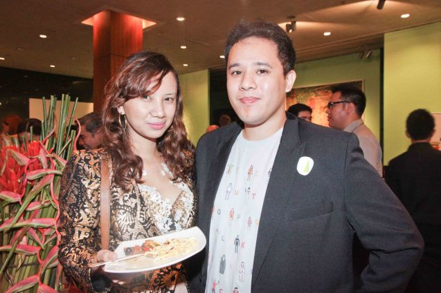 Venice Film fest awardee Pepe Diokno (Engkwentro) and Line Producer Bianca Balbuena. The Moviemov: Italian Film Fest rolled out the red carpet at the Ayala Museum and GB3 cinema. Photo by Jude Bautista.