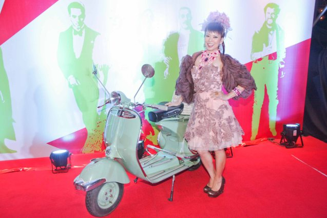 Sea Princess Tessa Prieto Valdes poses with a fully restored Vespa PX150. The Moviemov: Italian Film Fest rolled out the red carpet at the Ayala Museum and GB3 cinema. Photo by Jude Bautista.
