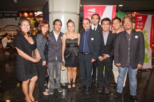 Center: Salvatorre Striano (Cesare Deve Morire)- blue tie with ASIATICA Film Medial participants from left: Madeleine Nicolas, Judith Bueno, Carlo Obispo (1,2,3), Sheenly Gener, Max Celada (Pasahero) , Richard Legaspi (Manenaya) Seymour Barros Sanchez and Noel Taylo (Kwarto) . The Moviemov: Italian Film Fest rolled out the red carpet at the Ayala Museum and GB3 cinema. Photo by Jude Bautista