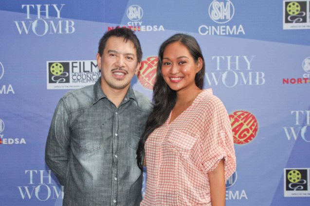 MMFF Best Director Dante Mendoza with bronze beauty Mercedes Cabral at fan's day in SM North EDSA. Photo by Jude Bautista