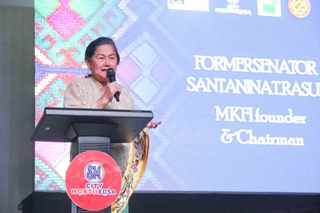 Former Sen. Rasul is founder and Chairwoman of Magbasa Kita Foundation and is a life long Noranian. She made her speech during fan's day in SM North EDSA. Photo by Jude Bautista