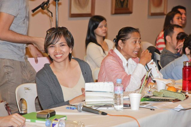 from left: Monitoring Committee members Darlene Malimas and Flor Salanga during Cinemalaya auditions held last January 20. The actual fest will run from July 26 to August 4, 2013 and will screen films not just at the CCP but also in Greenbelt and TRINOMA malls. Photo by Jude Bautista