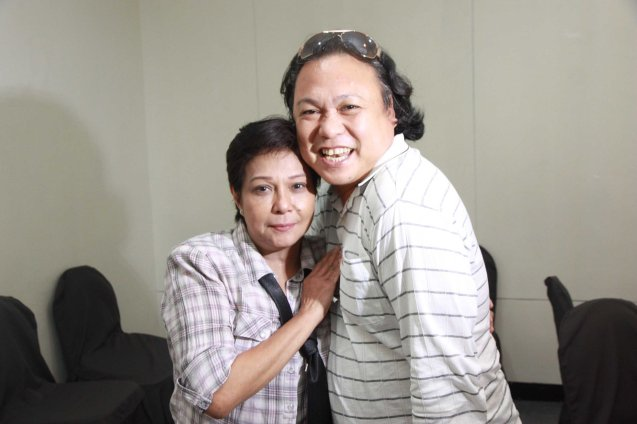Nora Aunor is interviewed by Morly Alinio for TV5. Photo was taken during fan's day in SM North EDSA. Photo by Jude Bautista
