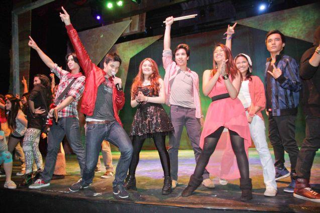 CAMP ROCK cast loves Menchu Lauchengco-Yulo, the musical ran last November 2012. Photo by Jude Bautista