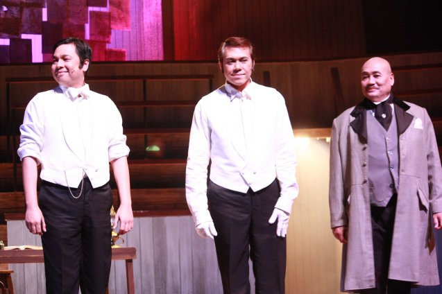 from left: Jett Pangan, Michael Williams and Junix Inocian in Repertory Phil.'s Jekyll & Hyde. It was directed by Menchu Lauchengco Yulo last March 2012. Photo by Jude Bautista