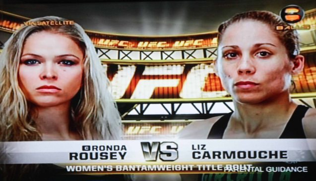 Liz Carmouche put up a fight, which meant it, lasted til the last minute of the first round. It was the longest any opponent had lasted with Ronda Rousey who retained her UFC Batnamweight belt last Feb 23, 2013.