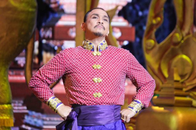 Nonie Buencamino as King Mongkut. KING AND I is extended at the New Port Performing Arts Theater in Resort's World Manila until May 2013. Photo by Jude Bautista