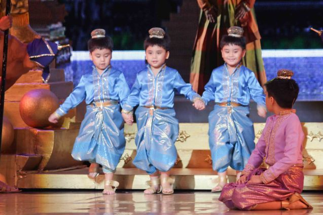 Triplets among the King's children. KING AND I is extended at the New Port Performing Arts Theater in Resort's World Manila until May 2013. Photo by Jude Bautista