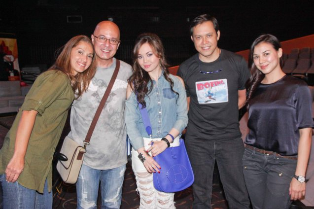 from left: Menchu Lauchengco-Yulo, Michael De mesa, Anna Maria Perez De Tagle, Michael Williams and Carla Dunareanu (Gretchen). Anna Maria is the original Ella in Camp Rock TV Movie by Disney. Michael De Mesa had to bow out from BOEING BOEING because of INDIO. Michael Williams is part of Friends in Music with Menchu.  Photo was taken at the REP 2013 season launch by Jude Bautista.