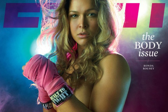 UFC Women's Bantamweight Champ Ronda Rousey for the ESPN Body Issue last year.