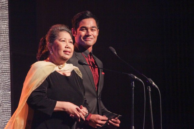 from left: Marichu Vera Perez Maceda and Benjamin Alves at the 61st FAMAS, April 21, 2013 AFP Theater. Photo by Jude Bautista