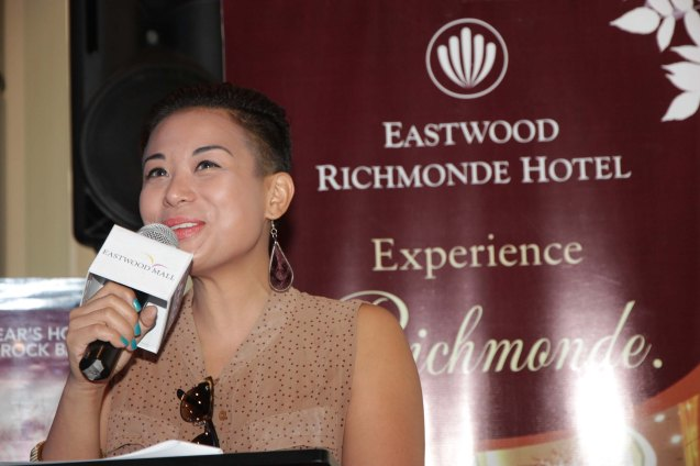 DJ Chloe of 94.7 Mellow hosted the press con at the Gallery Bar of Eastwood Richmonde Hotel April 8, 2013.