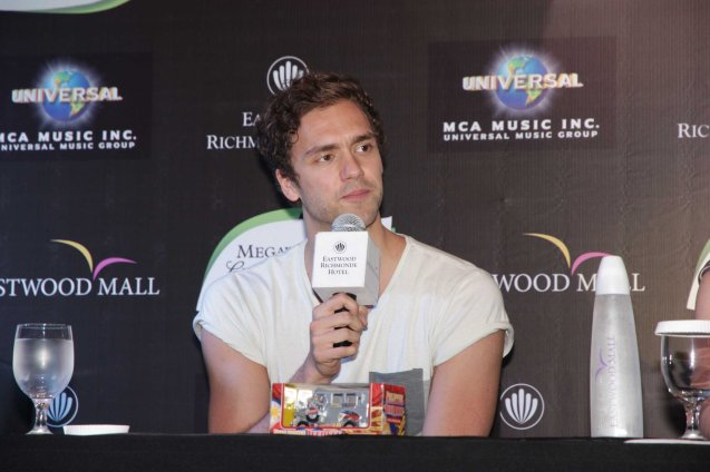 LAWSON vocalist Andy Brown during the press con at the Gallery Bar of Eastwood Richmonde Hotel April 8, 2013.