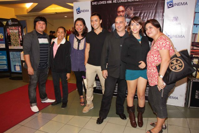 from left: Ian, Flor Salanga, Dayen Violet, Lance Raymundo, Executive producer Tim Bennet, Geraldine Catalan and Donna Raquiza. BAD ROMANCE is out in theaters starting April 10, 2013. Photo By Jude Bautista