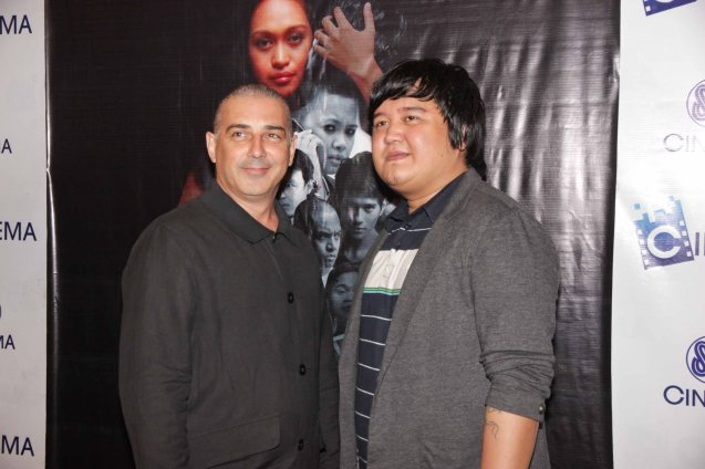 from left: Executive producer Tim Bennet and Director Ian Del Carmen. BAD ROMANCE is out in theaters starting April 10, 2013. Photo By Jude Bautista