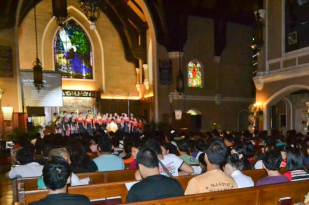 view from the audience area during the launch-performance at the Central United Methodist Church in Ermita, Manila. Contributed Photo.