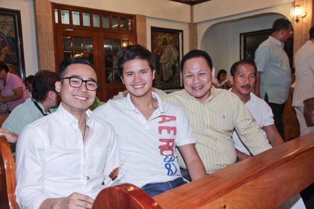 from left: JY Bautista of Ernst an Young, Alfonso Bautista, Ricky Isla of PLDT Global and Vic Isla. Photo was taken during the wake at Sanctuario De San Jose Greenhills. Photo by Jude Bautista