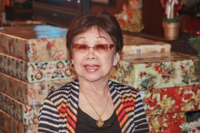 Lilia B. Yang was happiest when she was making other people happy especially her family. Photo was taken last December 9, 2012 at the Bautista Reunion in her residence. Photo by Jude Bautista