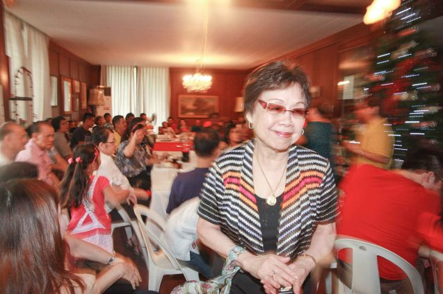 Lilia B. Yang felt fulfillment in making other people happy especially her family. Photo was taken last December 9, 2012 at the Bautista Reunion in her residence. Photo by Jude Bautista