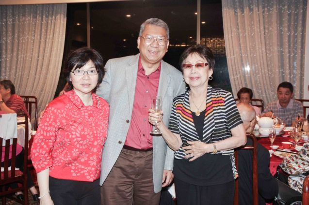 from left: Maggie Yum, Randy Salazar and Lilia Yang at Summer Palace in EDSA Shangri La Hotel last December 9, 2012. Photo by Jude Bautista