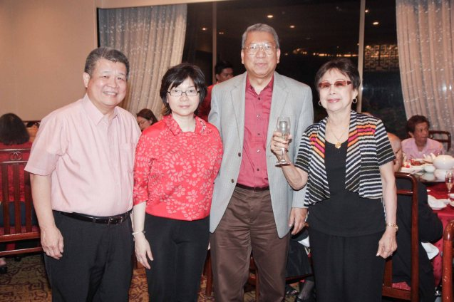from right: LBY, Randy Salazar, Maggie Yun and Willie Tong. She was in high spirits in the birthday bash thrown by Maggie Yum last December 9, 2012 at EDSA Shang Hotel. Photo by Jude Bautista