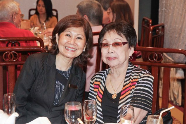 Summer Palace Operations Manager Nancy Farm with Lily Yang in EDSA Shangri La Hotel last December 9, 2012. Photo by Jude Bautista