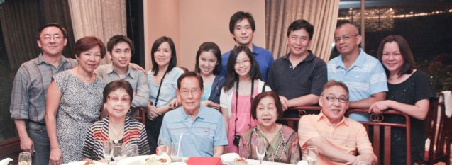 Tita Lily with Cua Family at Summer Palace in EDSA Shangri La Hotel last December 9, 2012. Photo by Jude Bautista