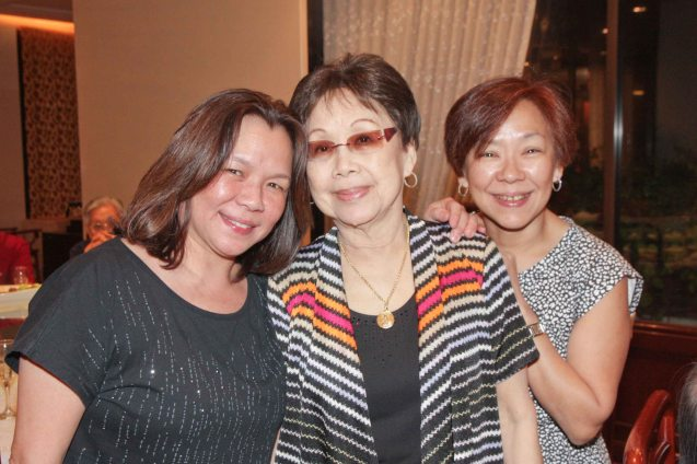 from left: Carol Rivera, Tita Llily and Ann Dorcy Cua at Summer Palace in EDSA Shangri La Hotel last December 9, 2012. Photo by Jude Bautista