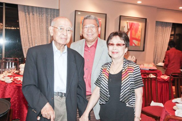 from right: Lilia B Yang, Randy Salazar and Justice Feliciano at Summer Palace in EDSA Shangri La Hotel. Photo by Jude Bautista
