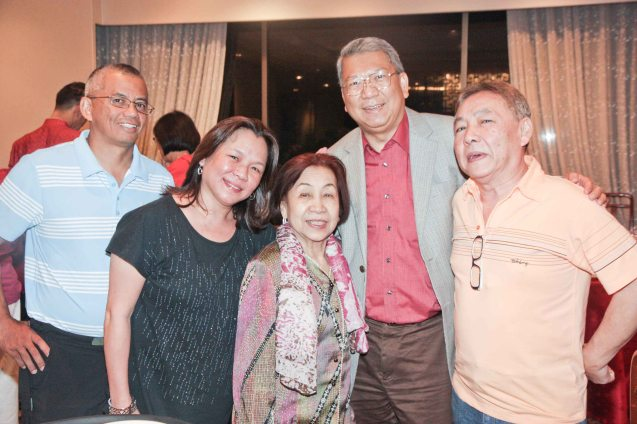 from left: Francis Rivera, Carol Rivera Rosy Cua , Randy Salazar and Benboy Cua at Summer Palace in EDSA Shangri La Hotel last December 9, 2012. Photo by Jude Bautista
