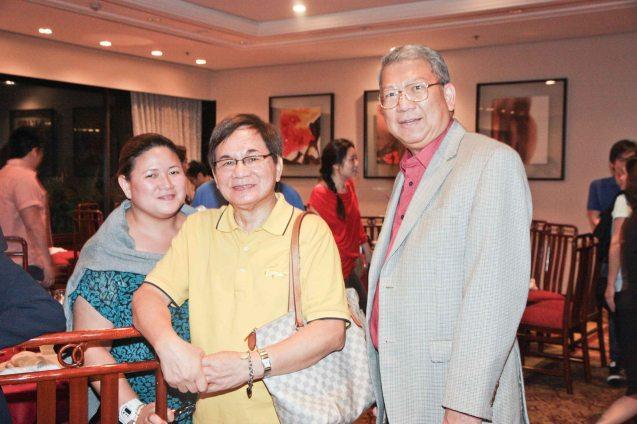 from right: Randy Salazar, Benjie Araneta and Baby Araneta at Summer Palace in EDSA Shangri La Hotel. Photo by Jude Bautista