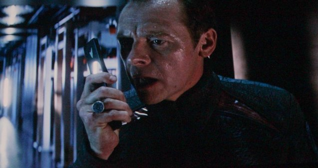 Scotty (Simon Pegg)  contacts Kirk on The Enterprise. Catch Star Trek Into Darkness in Newport Cinemas-Resort's World Manila, EASTWOOD City Mall, Lucky China Town Mall and Shang Rila Plaza mall.