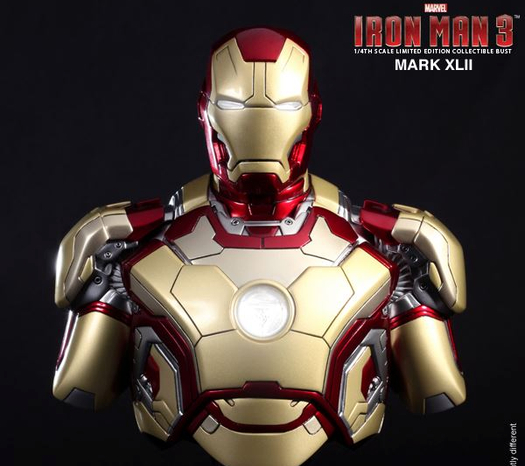 Mark XLII (42) WARNING: IRON MAN Mark 42 is NOT combat ready.  Catch IRON MAN3 at Newport Cinemas in Resort's World, EASTWOOD City Mall, Lucky China Town Mall and Shang Rila Plaza mall