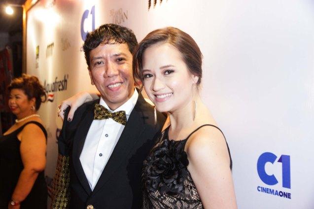 Auraeus Solito (BAYBAYIN) and Annicka Dolonius (ANG NAWAWALA). Pic was taken during 36th URIAN awards night at the NBC tent last June 18, 2013. Photo by Jude Bautista
