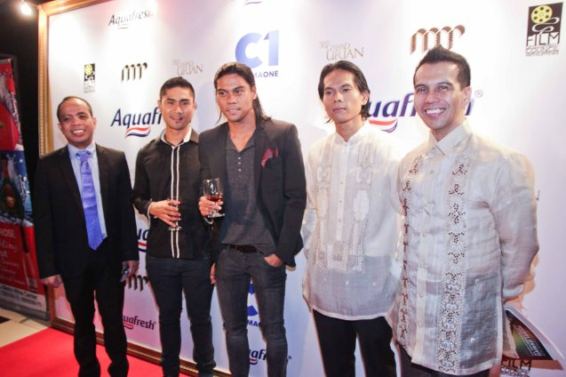 from left: Head of Cinema One and Velvet Ronald Arguelles, Myke Salomon, Jerald Napoles, Best Supporting Actor nominee Dax Alejandro (BAYBAYIN) and Dr. Mike Rapatan of MPP. Pic was taken during 36th URIAN awards night at the NBC tent last June 18, 2013. Photo by Jude Bautista