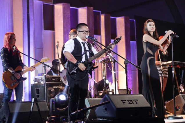Aiza Seguerra jams with General Luna during 36th URIAN awards night at the NBC tent last June 18, 2013. Photo by Jude Bautista