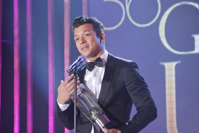 Best Actor winner Jericho Rosales (ALAGWA) during 36th URIAN awards night at the NBC tent last June 18, 2013. Photo by Jude Bautista