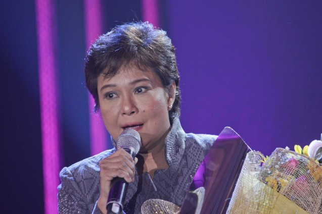 5-time Urian Best Actress winner Nora Aunor (THY WOMB) during 36th URIAN awards night at the NBC tent last June 18, 2013. Photo by Jude Bautista
