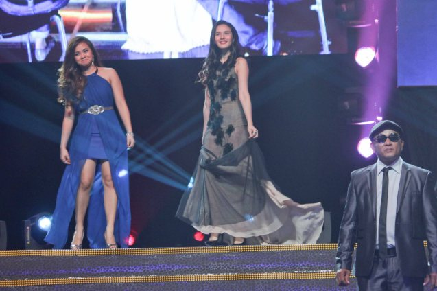 (center) Karylle is the lead star in Resort's World Manila's CINDERELLA, she interpreted SAYO NA LANG AKO composed by (left) Lara Maigue. The song landed in the top 5 of the Phil Pop Music fest 2013. (right foreground) ASKAL Composer Ganny Brown. Catch the PHILPOP 2013 finalists on their mall tour in EASTWOOD Central Plaza (Aug 9), LUCKY CHINATOWN Atrium (Aug 17) and VENICE PIAZZA at McKinley Hill (Aug 18). Photo by Jude Bautista