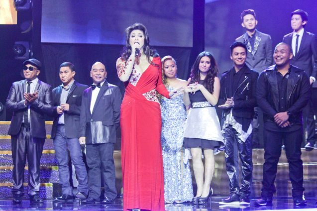 Regine Velasquez was among many star guest performers during the Finals night. Other stars included Martin Nievera, Charice Pempengco, The Ryan Cayabyab Singers, The Company, 5AZ1, Baihana, The Opera, and beat box artist Myke Salomon. Catch the PHILPOP 2013 finalists on their mall tour in EASTWOOD Central Plaza (Aug 9), LUCKY CHINATOWN Atrium (Aug 17) and VENICE PIAZZA at McKinley Hill (Aug 18). Photo by Jude Bautista