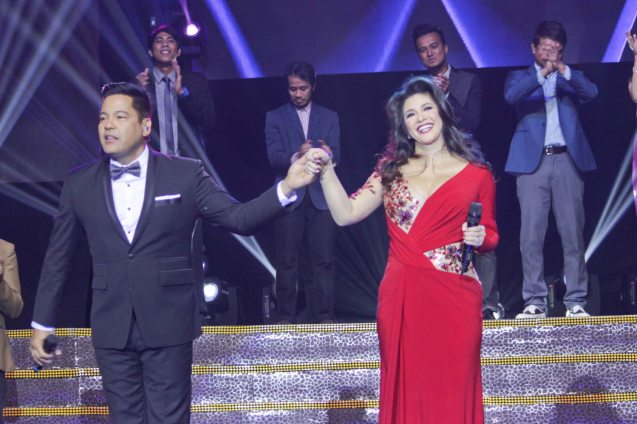 Finals night: Martin Nievera and Regine Velasquez were among the many star guest performers, which included Charice Pempengco, The Ryan Cayabyab Singers, The Company, 5AZ1, Baihana, The Opera, and beat box artist Myke Salomon. Catch the PHILPOP 2013 finalists on their mall tour in EASTWOOD Central Plaza (Aug 9), LUCKY CHINATOWN Atrium (Aug 17) and VENICE PIAZZA at McKinley Hill (Aug 18). Photo by Jude Bautista