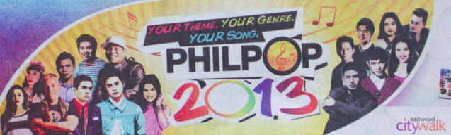 Catch the PHILPOP 2013 finalists on their mall tour in EASTWOOD Central Plaza (Aug 9), LUCKY CHINATOWN Atrium (Aug 17) and VENICE PIAZZA at McKinley Hill (Aug 18).