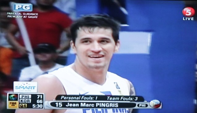 Marc Pingris was the best player of the game. Watch SMART Gila vs IRAN tonight at the MOA Arena tonight or on TV5 at 830pm.