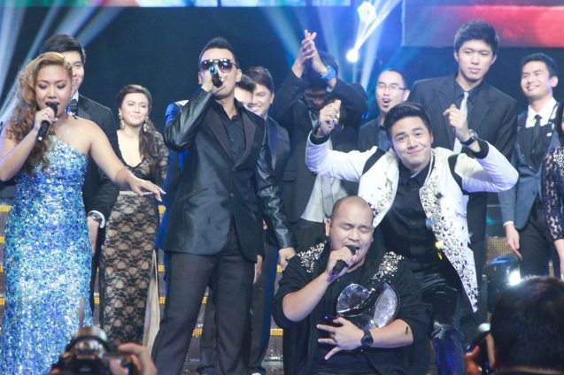 1M Grand prizewinners from left: hip hop artists and songwriters Yumi Lacsamana, Thyro Alfaro, QUEST and Sam Concepcion. Catch the PHILPOP 2013 finalists on their mall tour in EASTWOOD Central Plaza (Aug 9), LUCKY CHINATOWN Atrium (Aug 17) and VENICE PIAZZA at McKinley Hill (Aug 18). Photo by Jude Bautista