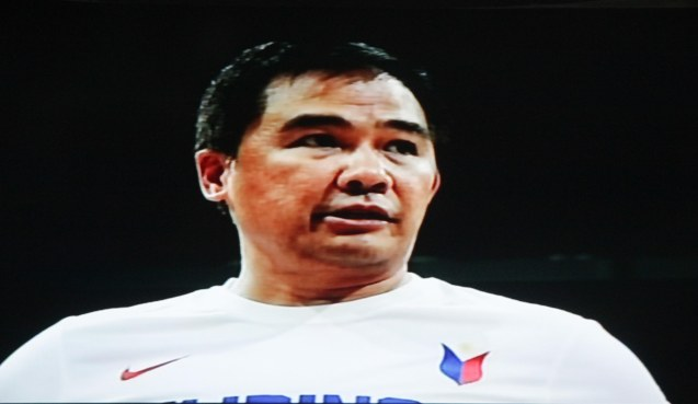 Coach Chot Reyes Shed Tears of joy after the win. Watch SMART Gilas vs IRAN tonight at the MOA Arena tonight or on TV5 at 830pm.
