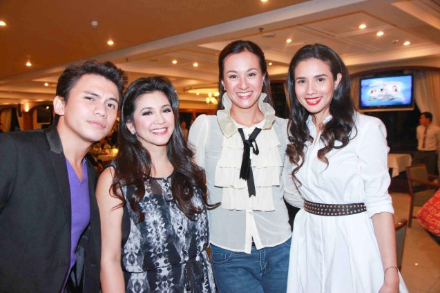 from left: Yael Yuzon, Regine Velasquez, Mikke Cojuangco-Jaworski and Karylle.  Catch the PHILPOP 2013 finalists on their mall tour in EASTWOOD Central Plaza (Aug 9), LUCKY CHINATOWN Atrium (Aug 17) and VENICE PIAZZA at McKinley Hill (Aug 18). Photo by Jude Bautista